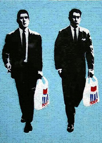 BANKSY - KRAYS canvas print - self adhesive poster - photo print